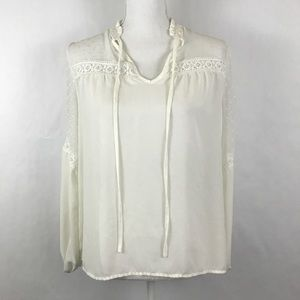 Atmosphere Blouse Womens Size 8 White Sheer